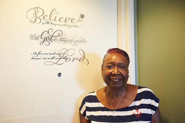 Ann Hampton is vice chair of the residents association at the seniors building.
