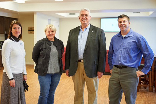 (L-R) NRHA staff members Heather Simola, Beth Dunning, Bill Brewer, Scott Kelley