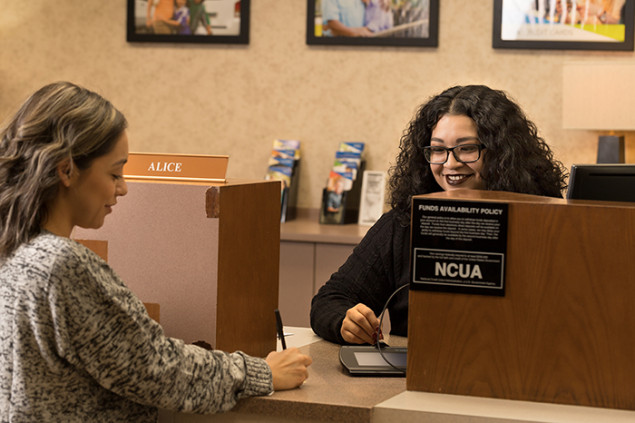 Many members coming into the branch will wait for their favorite teller.