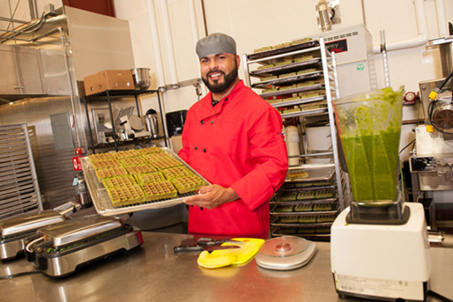 Martín Madriz, founder of The Green Waffle, which comes in four varieties, each made with only five wholesome ingredients.